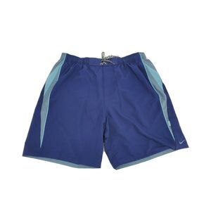 """New Nike 9"""" Contend Volley Blue Swim Shorts Trunks"""